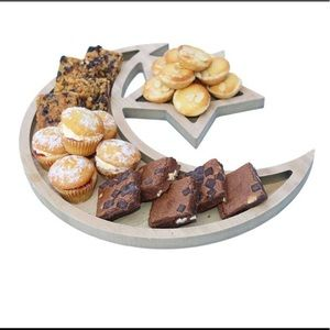 Crescent and Star tray Ramadan Eid decor